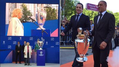 الكأس ذات الأذنين تصل مدريد استعدادا لنهائي دوري الأبطال