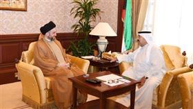 النائب الأول يبحث مع رئيس تحالف الإصلاح العراقي عمار الحكيم موضوعات مشتركة