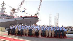 مصر تدشن ثاني سفينة حربية محلية الصنع