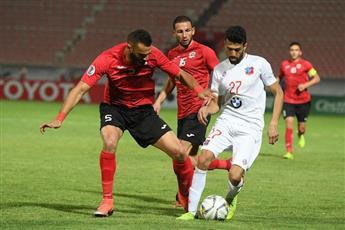 جانب من مباراة نادي الكويت والجزيرة الاردني