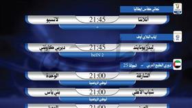 أبرز المباريات العالمية والعربية ليوم الأربعاء 15 مايو 2019