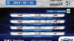 أبرز المباريات العربية ليوم الخميس 16 مايو 2019