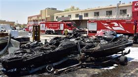 السيطرة على حريق 6 محلات في الشويخ الصناعية