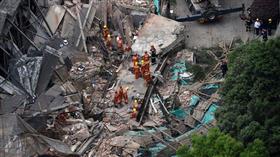 مصرع 5 أشخاص إثر انهيار مبنى في الصين