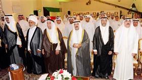الشيخ ناصر صباح الأحمد الصباح يتوسط الحضور