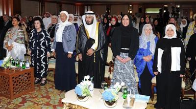 جانب من مراسم افتتاح احتفالية يوم المرأة الكويتية