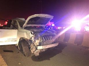 «الإطفاء»: وفاة امرأة وإحدى بناتها وإصابة اثنين بحادث تصادم وانقلاب على «الدائري السابع»
