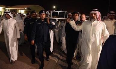 الداخلية تشيع شهيد الواجب الشرطي عبدالله محمد الفيلكاوي من قوة خفر السواحل