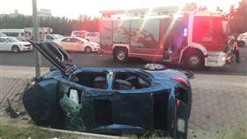 إصابة شخصين في تصادم على طريق الفحيحيل