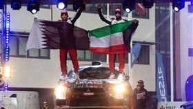 المتسابق الكويتي مشاري الظفيري أثناء مشاركته بالجولة الثالثة من رالي (لاتفيا)