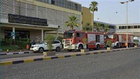 إخماد حريق محدود في غرفة تحكم مصعد بمستشفى الصباح