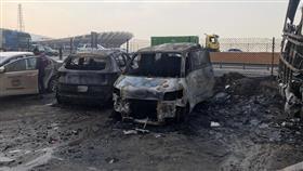 «الإطفاء» تخمد حريق ثلاث مركبات بالجليب