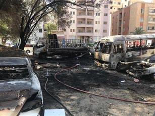 إخماد حريق التهم 9 مركبات بالسالمية