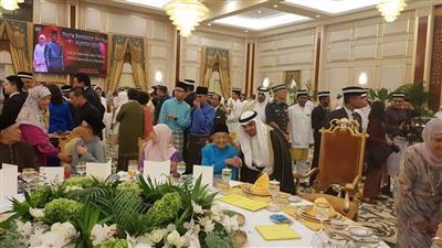 سفارتنا بماليزيا تشارك في حفل عيد الفطر بالقصر الملكي