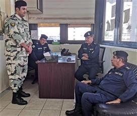 الفريق النهام يتفقد سير العمل في إدارة حماية المنشآت النفطية