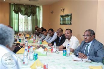 لقاء رئيس الوزراء الإثيوبي آبي أحمد مع قياديين في
