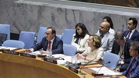 مندوب الكويت الدائم لدى الأمم المتحدة السفير منصور العتيبي أثناء كلمته