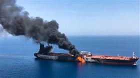 طاقم ناقلة النفط المتضررة ببحر عمان يصل إلى دبي