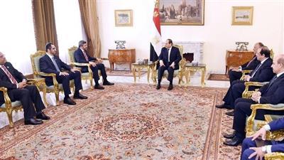 السيسي يستقبل وزير الخارجية ووزير الدولة الإماراتيين
