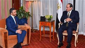 الرئيس السيسي خلال لقاء مع الشيخ عبدالله بن زايد