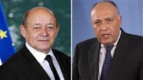 وزيرا خارجية مصر وفرنسا يبحثان مستجدات الأوضاع في المنطقة