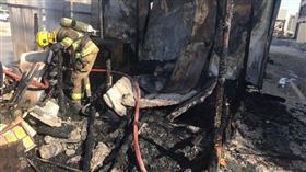 إخماد حريق بمبنى قيد الإنشاء في «صباح السالم»