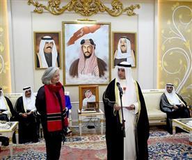 سفيرة فرنسا تقلد السفير الشيخ أحمد الناصر وسام جوقة الشرف برتبة فارس
