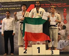 بطلنا ضاري العنزي يحقق الميدالية الذهبية في بطولة ماليزيا المفتوحة للكيوكوشن كان كاراتيه