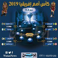 رسميًا.. مواجهات دور الـ 8 من بطولة الأمم الأفريقية مصر 2019