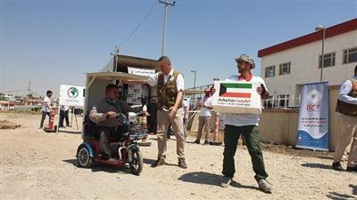 يد الخير الإنسانية الكويتية واصلت عطاءها دون راحة ورغم الحرارة المرتفعة