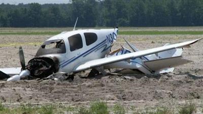 سقوط طائرة على منزل في الشيشان