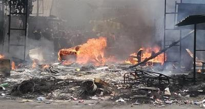 من احتجاجات المخيمات الفلسطينية في لبنان