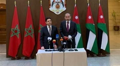وزير الخارجية الأردني أيمن الصفدي ونظيره المغربي ناصر بوريطة