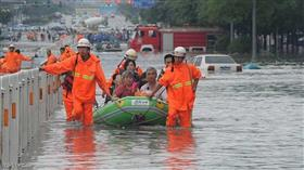 مقتل 4 أشخاص وفقد 23 آخرين إثر فيضانات شرقي الصين