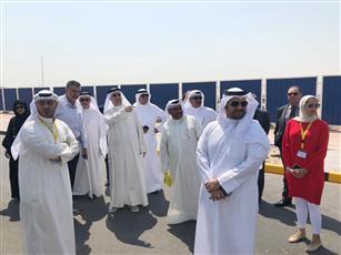 جانب من جولة أمين عام جامعة الكويت الدكتور مثنى الرفاعي بمدينة صباح السالم الجامعية