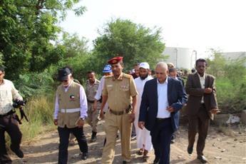 زيارة تفقدية لمواقع مشروع مياه عدن وأبين الذي تموله الجمعية الكويتية للإغاثة