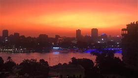 «الأرصاد المصرية» تكشف أسباب «الغروب الدموى» فى سماء القاهرة