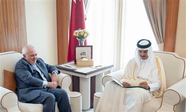 أمير قطر يتسلم رسالة خطية من وزير الخارجية الإيراني