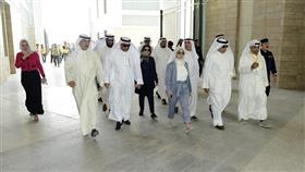 جانب من الجولة التفقدية للوزير العازمي والوزيرة بوشهري في الحرم الجامعي الجديد