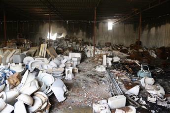 السيطرة على حريق مخزن أخشاب بـ «أمغرة»
