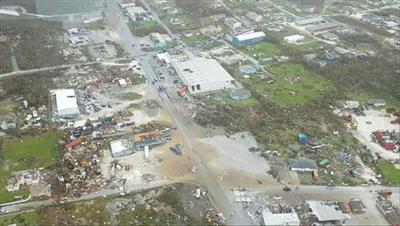 آثار كارثية في جزر الباهاما الأمريكية بسبب الإعصار دوريان