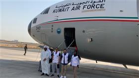 طائرة كويتية إغاثية ثالثة.. تحط بالسودان