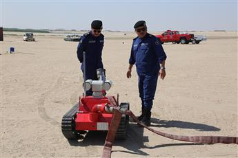 «الإطفاء» دشنت أحدث أنواع الروبوت الآلي لمكافحة الحرائق في الأماكن الخطرة
