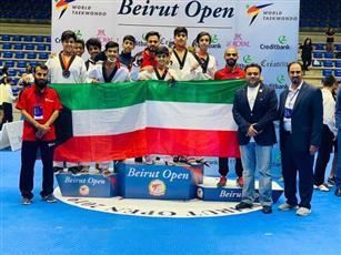 «الكويت للتايكوندو» يحصد 8 ميداليات في بطولة «بيروت المفتوحة»