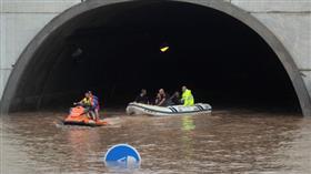 فيضانات تجتاح شوارع مدينة موخينتي بإسبانيا
