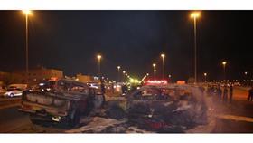 الإطفاء: تفحم 3 أشخاص في حادث تصادم مروع بالقرب من صناعية الفحيحيل