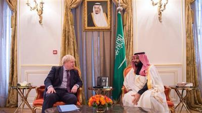 ولي العهد السعودي ورئيس الوزراء البريطاني