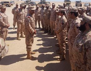 رئيس الأركان يتفقد عمل وحدات تابعة للدفاع الجوي