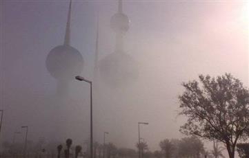 أرشيفية - الضباب في مدينة الكويت