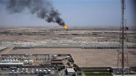 جانب من حقل مجنون النفطي في جنوبي العراق